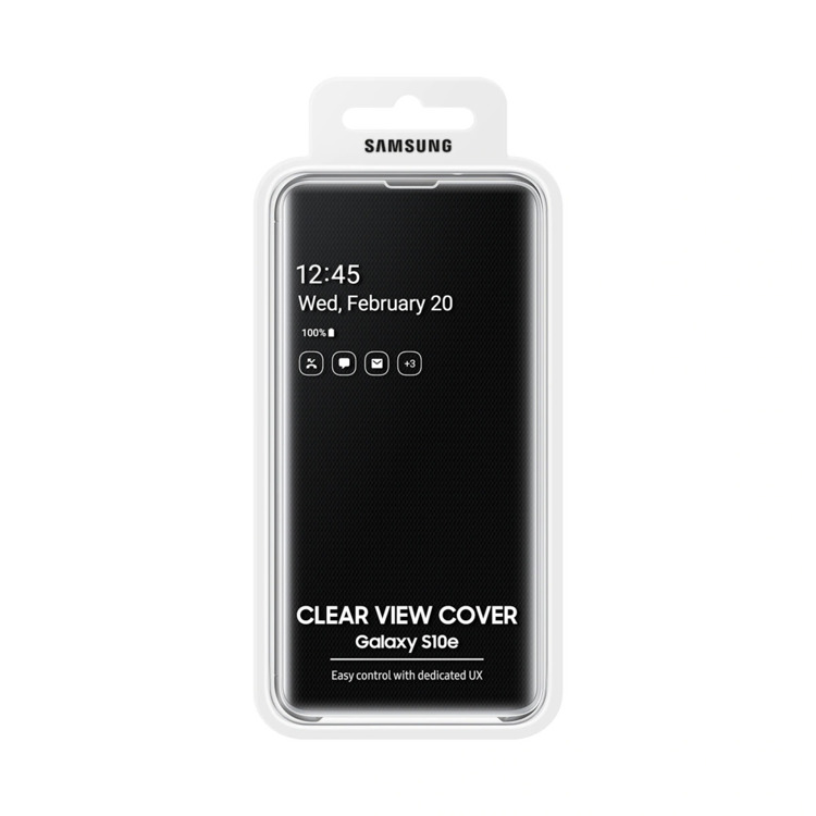 Etui Samsung CLEAR View Cover Czarny do Galaxy S10e (EF-ZG970CBEGWW)