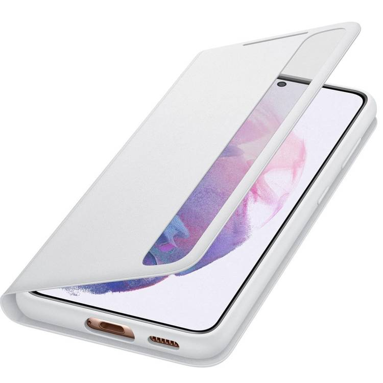 Etui Samsung Smart CLEAR View Cover Szary do Galaxy S21 (EF-ZG991CJEGEE)